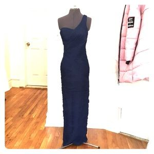 Size 2 sue wong navy fitted evening gown